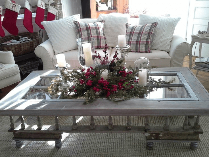 How to Decorate a Coffee Table for Christmas