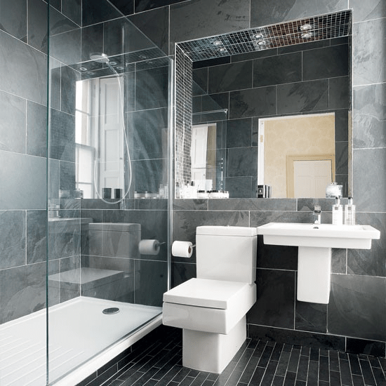 How to decorate a gray bathroom