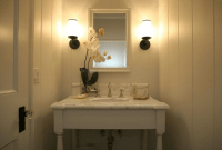 How to decorate a small powder bathroom