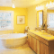 How to decorate a yellow bathroom