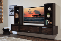 How to decorate entertainment center shelves