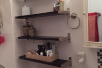 How to decorate over the toilet shelves