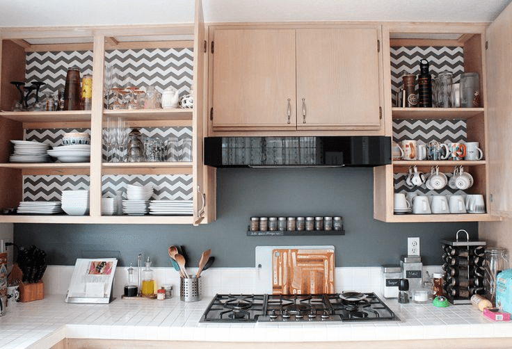 Kitchen cabinet shelf liner ideas