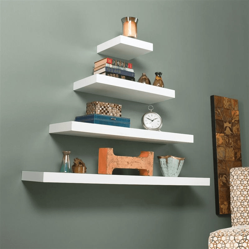 Large floating shelves