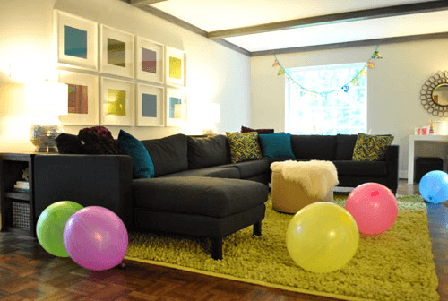 Living Room for Birthday Party