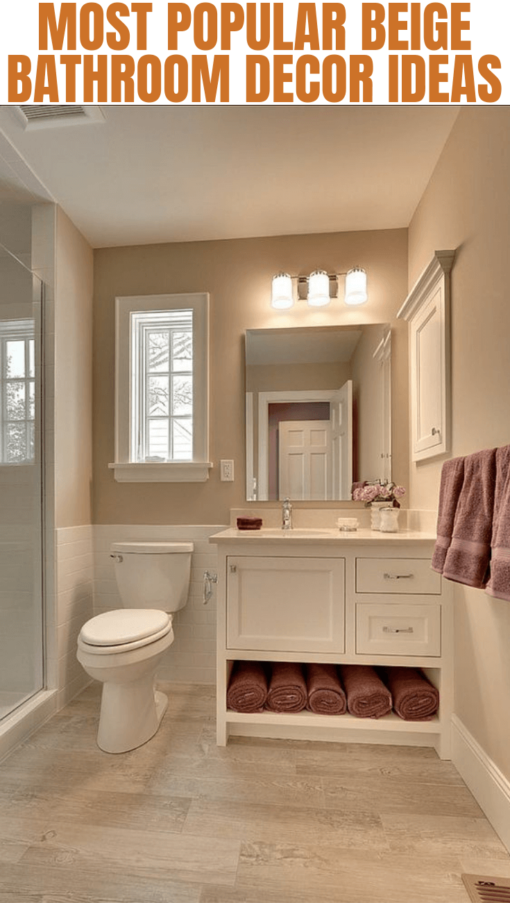 How to decorate a beige bathroom - How to decorate your bathroom ...