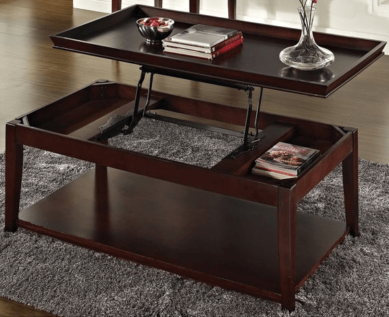 Make it functional with coffee table with pop up tray decoration ideas