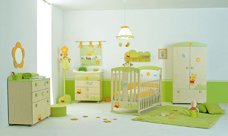 Newborn baby boy room