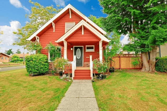 Old school walkup front porch design ideas for small house