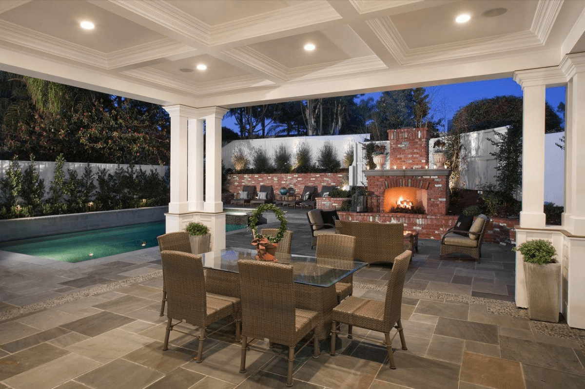 Outdoor ceiling porch lights