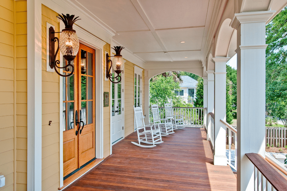 Outdoor porch sconces