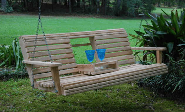 Porch swing with console