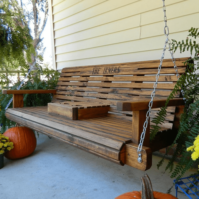 Rollback porch swing