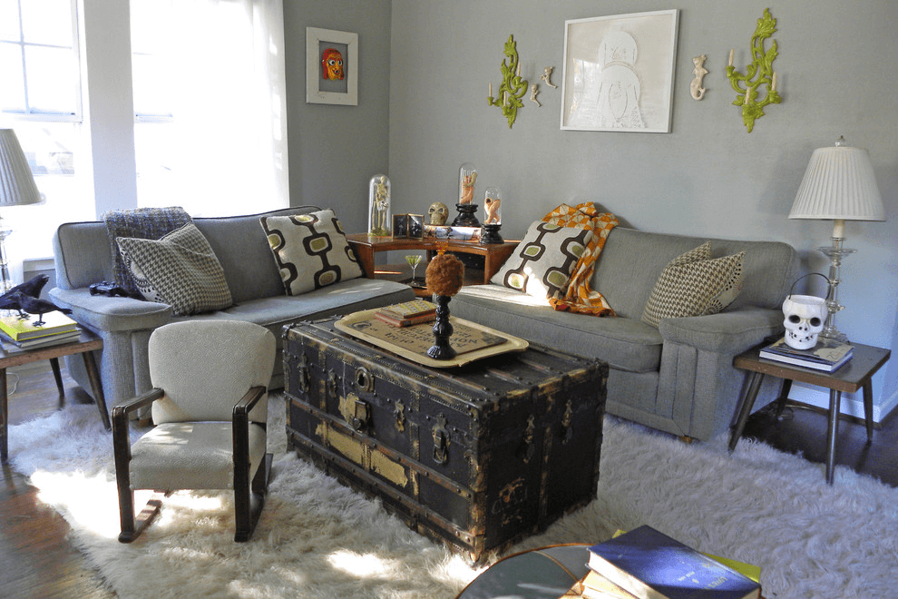 Rustic coffee table decorating ideas