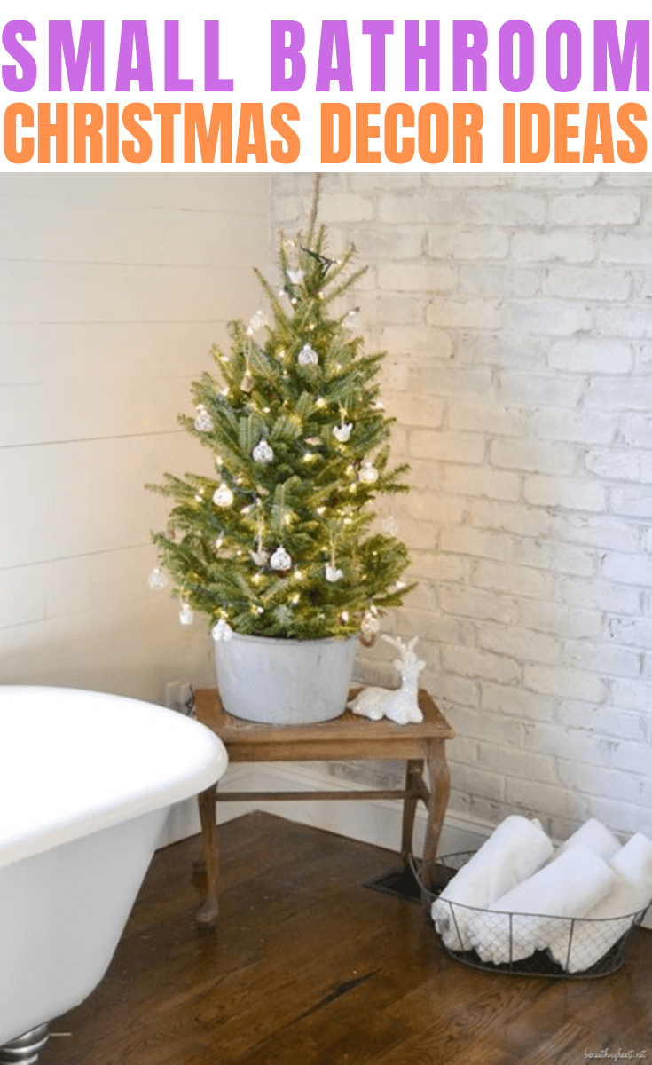 SMALL BATHROOM CHRISTMAS DECOR IDEAS