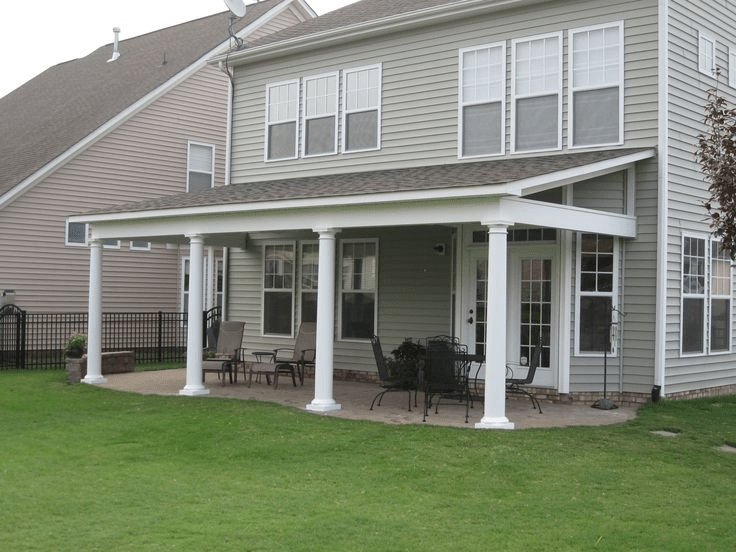 Different types of porch roofs most popular 5 for you for Shed roof screened porch