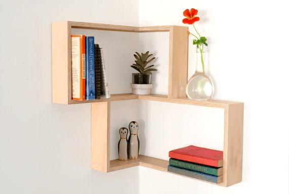 Small Floating corner shelves wood for living room