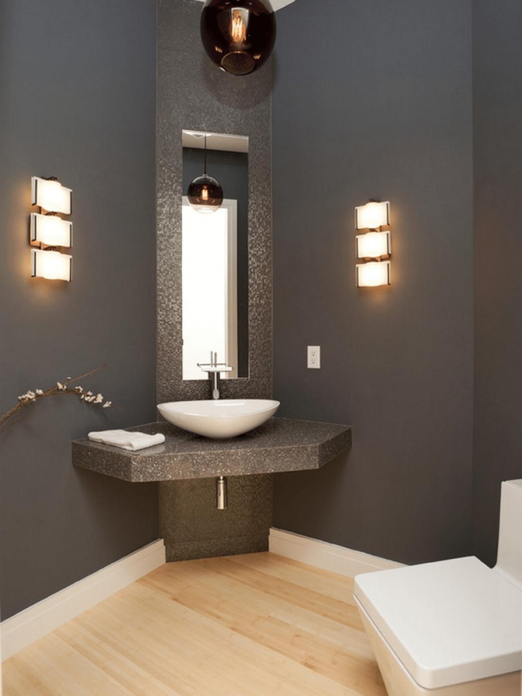 Small bathroom corner sink
