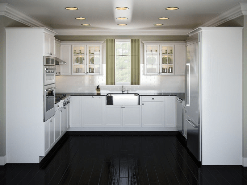 U shaped kitchen cabinet design