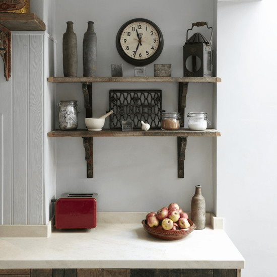 Vintage hanging shelves for kitchen
