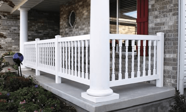 Vinyl porch railing designs
