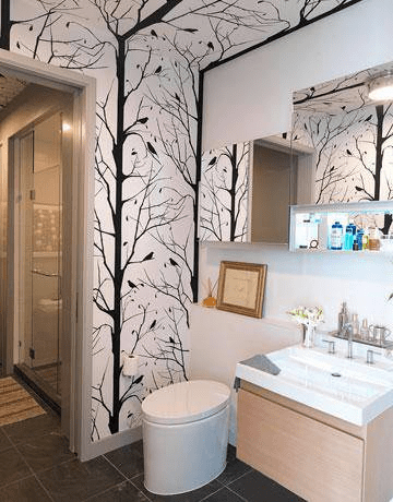 Wallpaper designs for bathroom