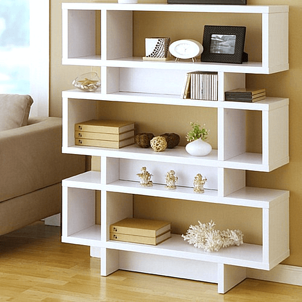 White lacquer shelves