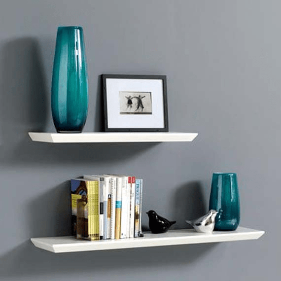 White shelves decor