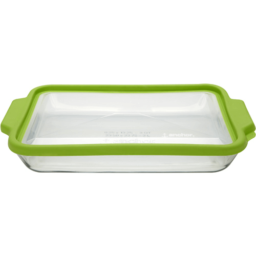 3 quart baking dish with lid