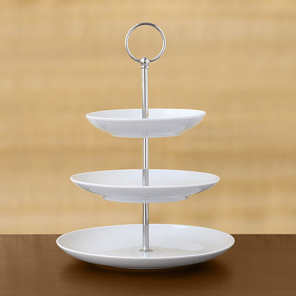 3 tier pastry stand white pottery barn