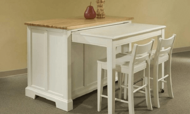 Broyhill kitchen island with pull out table