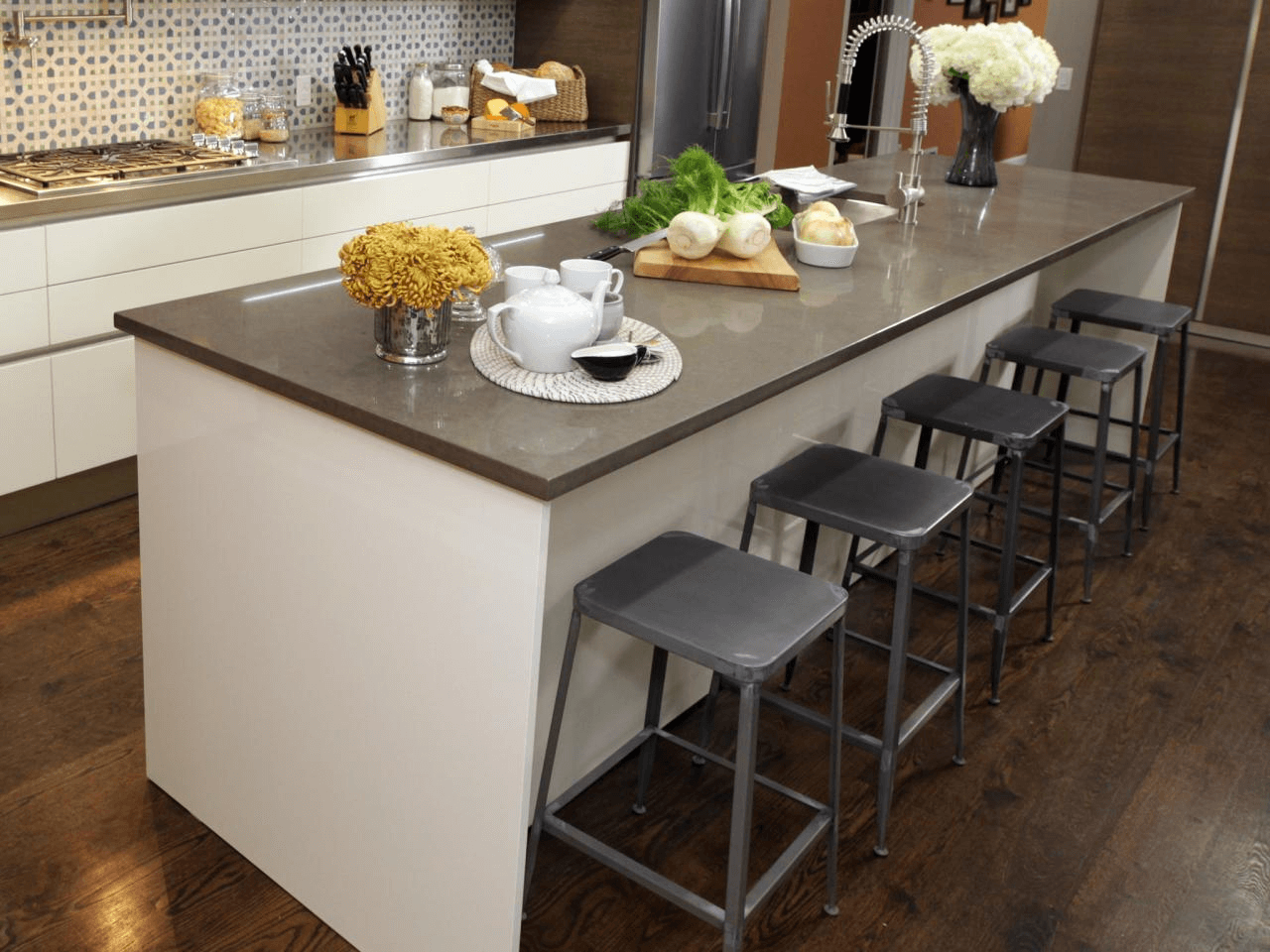 Contemporary Kitchen Island Stools for 5