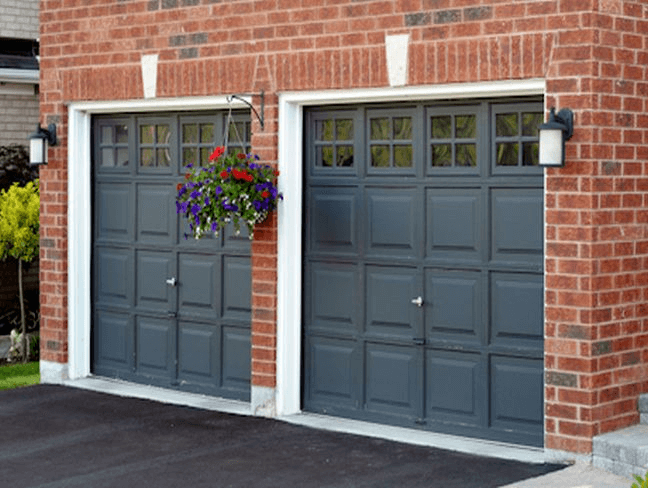 Dark black garage door design ideas pictures