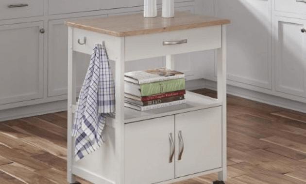 Dolly madison kitchen island cart white