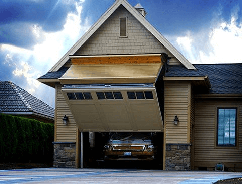Garage door for rv