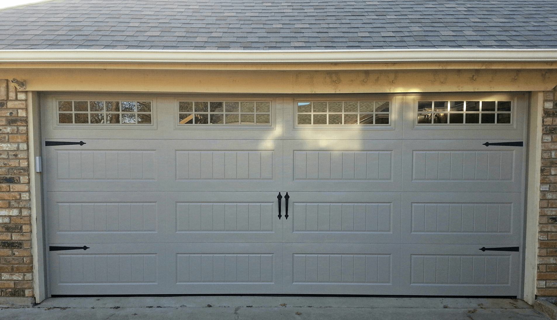 Garage door panel sizes for modern style home for How big is a garage door