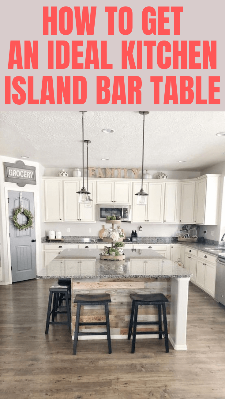 How To Get An Ideal Kitchen Island Bar Table