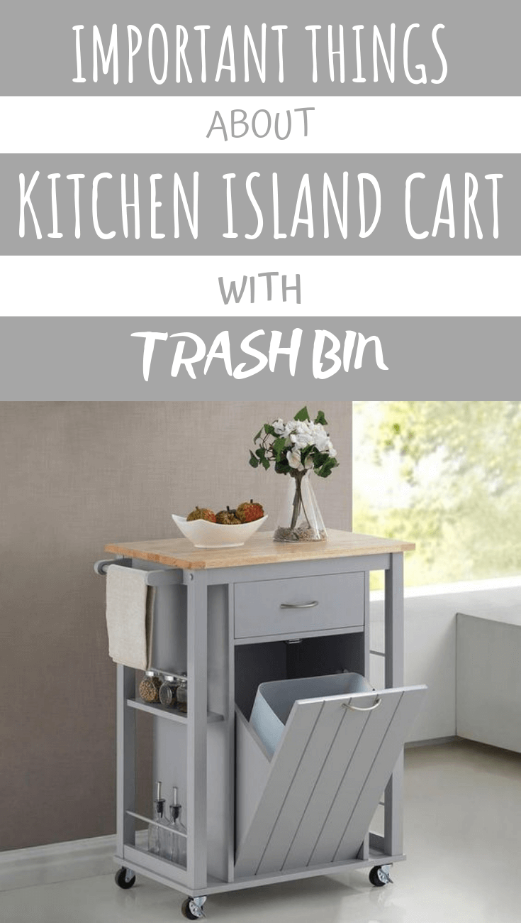 IMPORTANT THINGS ABOUT KITCHEN ISLAND CART WITH TRASH BIN