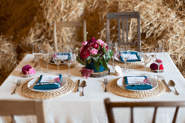 Jewel tone thanksgiving Dining table decoration accessories