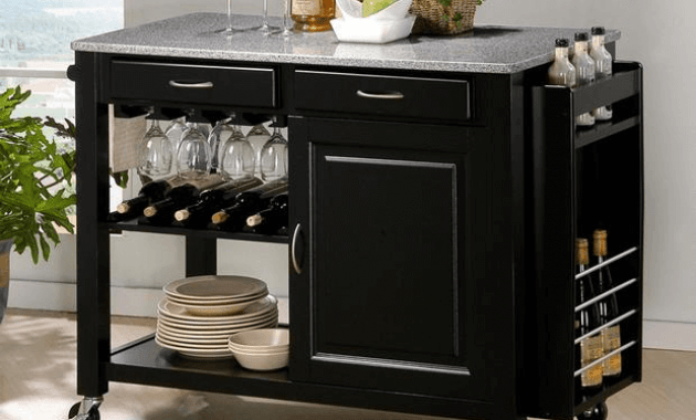Kitchen Island Cart Granite Top