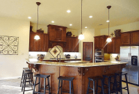 Kitchen Island with Breakfast Bar and Granite Top