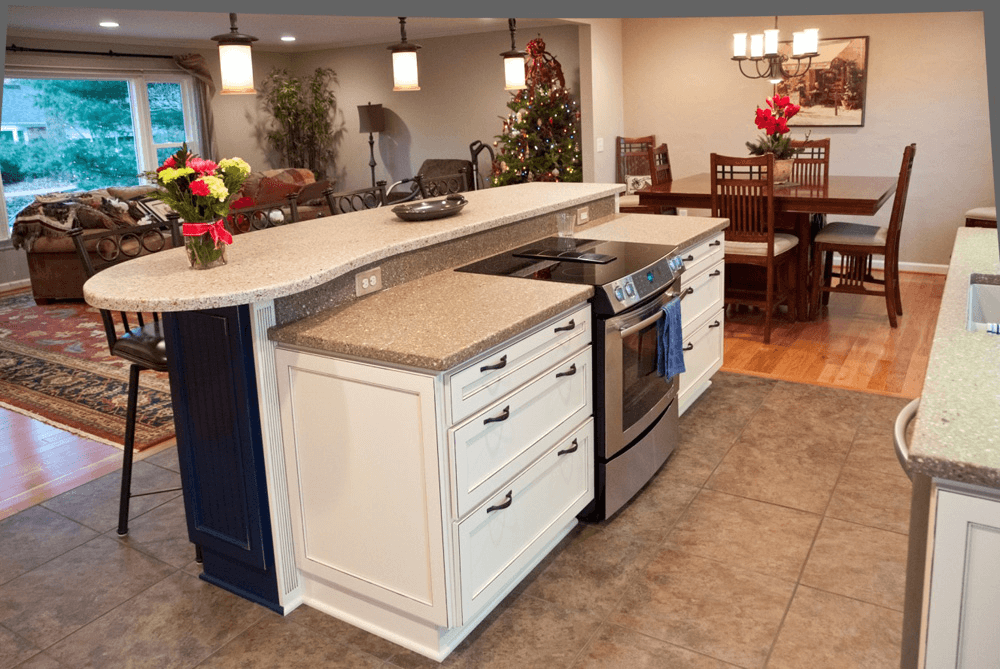build a kitchen island with seating kitchen island with stove top seating sink and oven ranges 26497