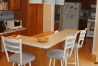 L Shaped Kitchen Island Breakfast Bar Design