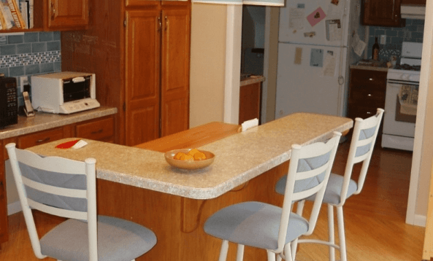 L Shaped Kitchen Island Breakfast Bar Design
