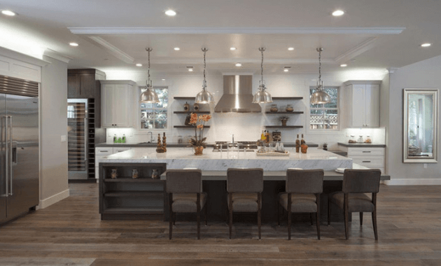 Large Kitchen Island with Seating for 4