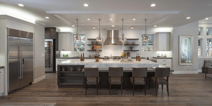 How To Design Large Kitchen Island With Seating For 4