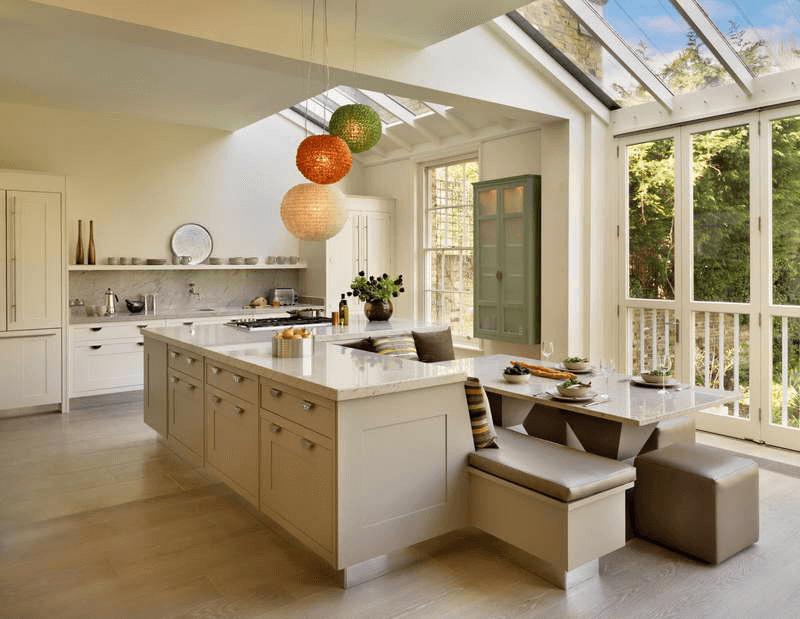 Large kitchen island table
