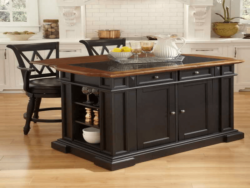 Large movable kitchen island