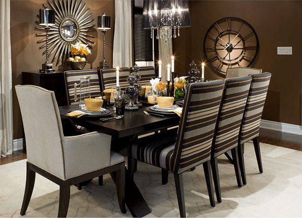 Luxury dining room table decor
