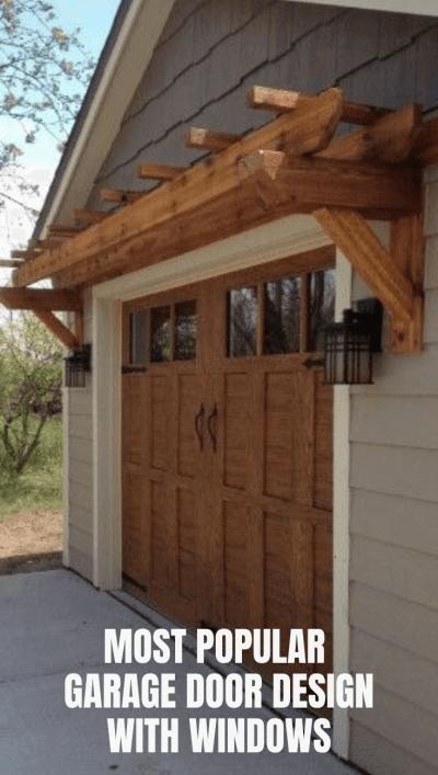 MOST POPULAR GARAGE DOOR DESIGN WITH WINDOWS